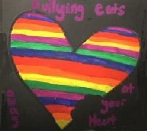 Rainbow Heart Against Bullying