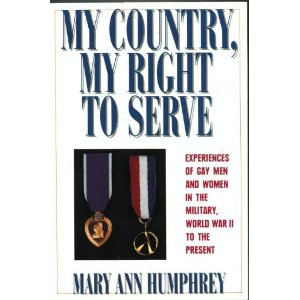 Cover of My Country, My Right to Serve: Experiences of Gay Men and Women In the Military, World War II to the Present